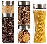 Santai Living Alimentos Contenedor de Vidrio Caja de Almacenamiento de Cocina Contenedor Dispensador con Tapa hermética (2000 ML)