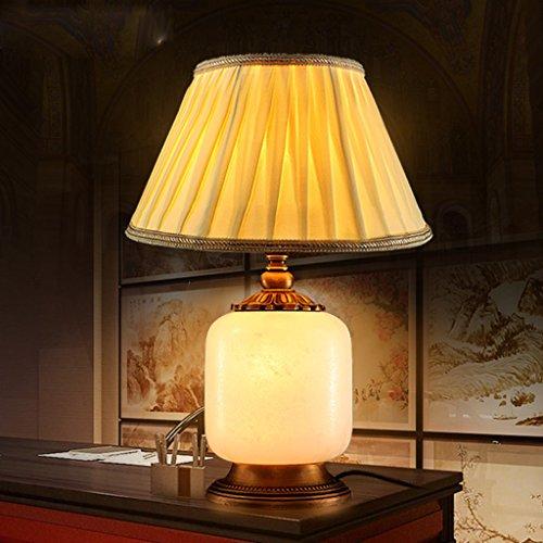 Bonne chose lampe de table Lampe de table Lampe de cuivre européenne Lampe de salon style marbre Lampe de chevet américaine