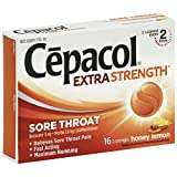 Cepacol Maximum Strength Throat Drop Lozenges, Honey Lemon, 16 ct (Pack of 24)