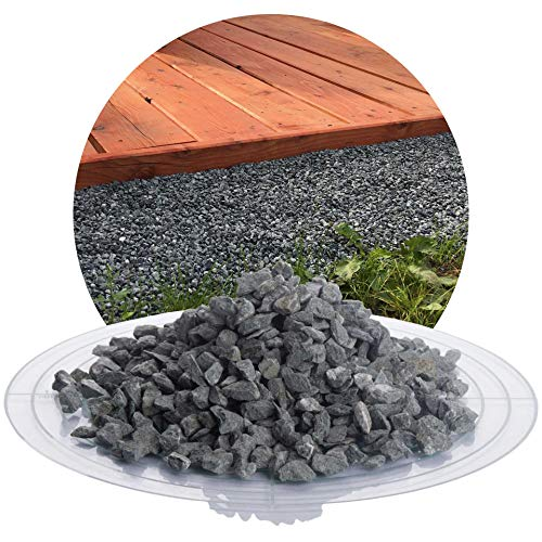 Schicker Mineral Diabas Splitt grau 25 kg in den Größen 1-3 mm, 2-5 mm, 5-8 mm, 22-32 mm, 32-56 mm, ideal zur Gartengestaltung, hellgrauer Naturstein Splitt (Diabas Splitt, 5-8 mm)