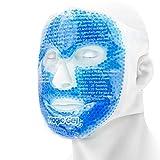 Luxuriöse Kühlende Gesichtsmaske -Eiskalte Kühlmaske mit Gelperlen und sanfter Unterseite aus100% Baumwolle-für verbesseren Schlaf,geschwollene Augen,Entzündungen und verbesserte...