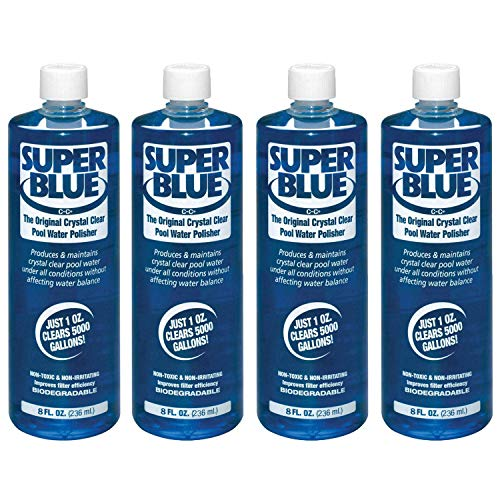 Robarb 20152A Super Blue Crystal Clear Pool Water Clarifier, 8 Fl Oz (4 Pack)