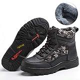 ZYFXZ Zapatos de Seguridad Calzado de Trabajo de Seguridad para Hombres, Puntera de Acero, antibalas, Piercing, Ligeros, Zapatos de algodón de Alta Gama Botas de Trabajo (Color : B, Tamaño : 37)