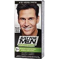 Just For Men, Tinte Colorante en champu para el cabello del hombre. Elimina las canas y rejuvenece el cabello en 5 minutos. Castaño Negro, 30 ml