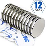 Super Strong Neodymium Disc Magnets, Powerful N52 Rare Earth Magnets - 1.26 inch x 1/8 inc...