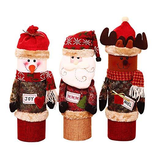 Decoración de Muebles Suéter navideño Cubierta para Botella de Vino Caja de...