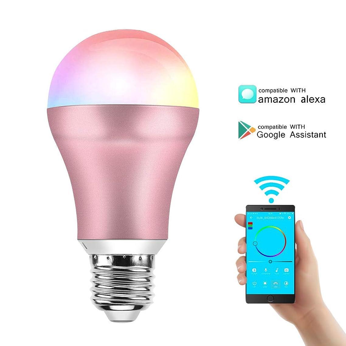 Smart Light Bulb, LED WiFi Bulb E27 Base LED Multicolor Light, No Hub Required, Dimmable RGB Smart Light Bulb