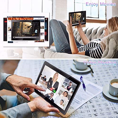 Tablette qunyiCO Y10 10 Pouces (10.1'') Android 10.0 GO, 2 Go RAM 32GB de mémoire, Double caméra 2MP+8MP, processeur quadricœur, Écran IPS HD 1280 x 800, Wi-FI Bluetooth 5000mAh, Certifié GMS Noir