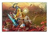 ARYAGO Hyrule Warriors Age of Calamity - Póster moderno para videojuegos (91,4 x 60,9 cm), diseño de leyenda de Zelda Breath of the Wild Art