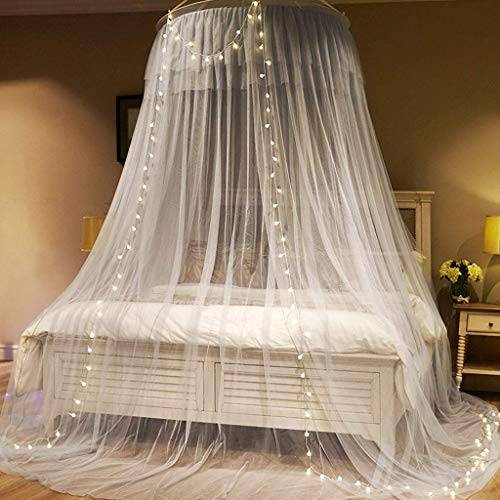 %58 OFF! QQXX Mosquito Nets Encrypted Thickened Ceiling Princess Wind Mosquito Net, Hanging Dome Fre...