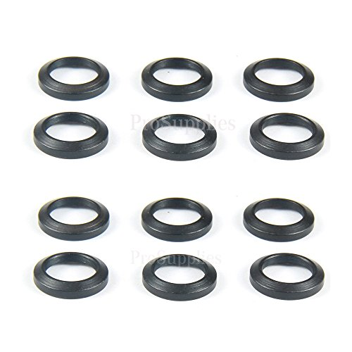TACFUN 12 PCS Steel Crush Washers for 1/2' x28 Thread Muzzle Device Alignment Pack of 12