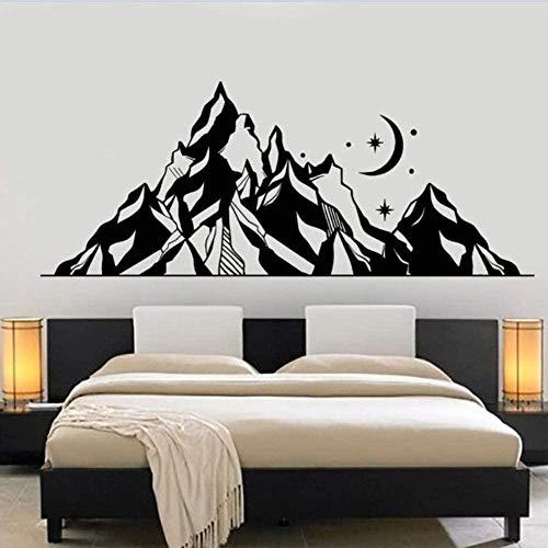 57X23 cm Calcomanía de vinilo para pared Grandes montañas Paisaje Etiqueta de...