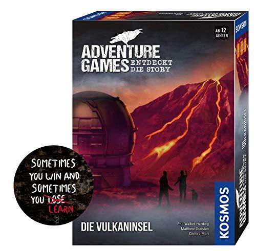 Collectix Kosmos 693169 Adventure Games - Juego de mesa de la isla volcánica y pegatina de salida