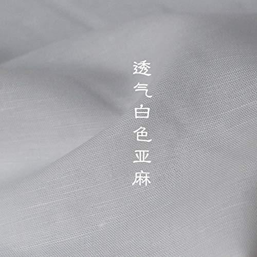 Se vende por metros como tela decorativa, tela de lino blanca blanqueada, tela opaca, disfraz transpirable, 0,5 m
