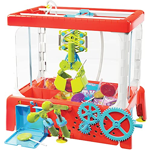 Thames & Kosmos Candy Claw Machine STEM Experiment Maker Lab   Build Your Own Arcade-Style Claw Machine   Explore Hydraulics & Engineering   Includes Lollipops & Decoy Candy Boxes, No Batteries Needed
