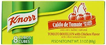 Knorr Boullion Cubes Tomato with Chicken Flavor 8-Count Boxes  Pack of 6
