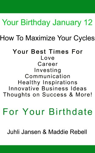 Your Birthday January 12th, Beyond Astrology, Your Special Cycles & Your Best times for Healthy Inspirations, Innovative Business Ideas, Success, Communication in Relationships!