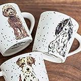 xingfuankang Tazza per Cani Ceramicv Grande capacità Colazione Succo di Latte caffè Tazza da tè Coppia Creativa Bicchieri -B