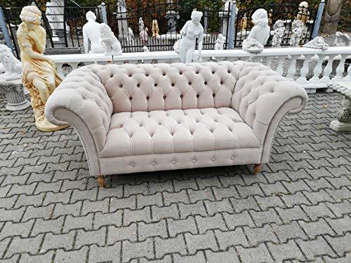 JVmoebel Design Chesterfield, divano in tessuto a 2 posti