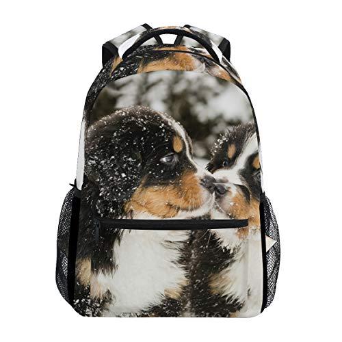 School College Backpack Rucksack Travel Bookbag Outdoor Bernese Mountain Dog