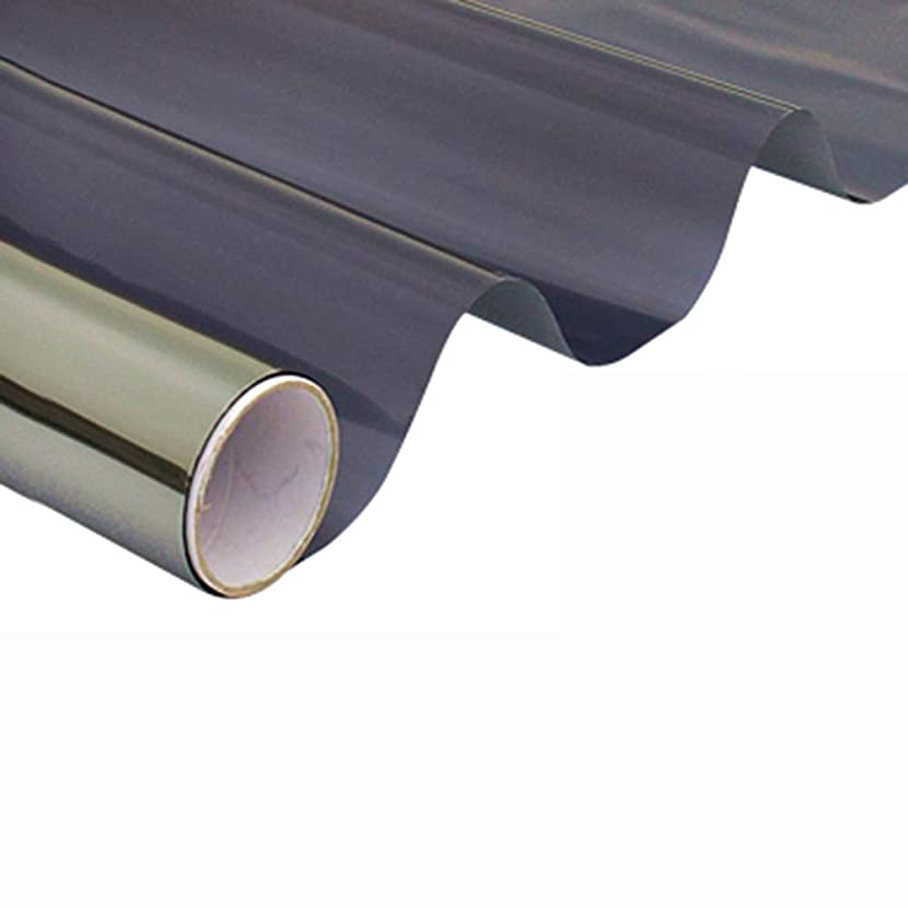 トライアスロン選択登録するBAOMEI ウィンドウフィルム プライバシーウィンドウフィルム、一方向の熱制御日焼け防止ウィンドウカバーアンチUV反射ガラスステッカー静的ミラーフィルム非接着剤 家庭用およびオフィス用 (Color : C, Size : 24inch × 3feet)