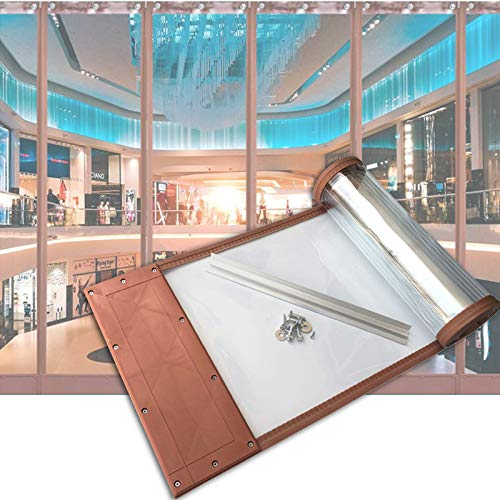 MAHFEI Cortina De Puerta, Mosquitera Magnética para Puertas PVC Transparente Puerta Autocebante Hoja Insonorizada para Centros Comerciales Cortina De Partición para Sala De Estar