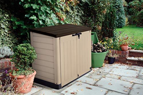 Koll Living Garden Mülltonnenbox 1200 Liter, 1,2 m³ Raumvolumen - wetterbeständiger Stauraum für Zwei 240 Liter Mülltonnen - mit Belüftungssystem