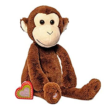 My Baby's Heartbeat Bear Recordable Stuffed Animals 20 sec Heart Voice Recorder for Ultrasounds and Sweet Messages Playback Perfect Gender Reveal for Moms to Be Vintage Monkey