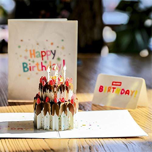 Yener 3D verjaardagskaart pop-up kaart Happy Birthay groet baby cadeau Happy Creative convite de casamento tarjeta regalo, A