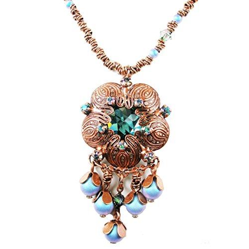 Konplott Water Blossom Halskette mit Anhänger blue/green 2154