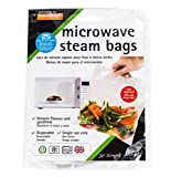 Food retains flavor and is faster than other cooking methods; Each bag serves 3-6 people. Easy to use bags can be used to cook vegetables, chicken, fish and much more in 5 minutes or less; Can save you up to 75 percent in time and energy by simply ba...