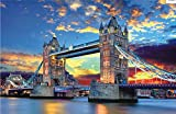 ZL Puzzles De 1000 Piezas para Adultos Niños Paisaje Mundialmente Famoso Jigsaw Puzzles Grande Juego Educativo Intelectual Difícil Y Desafiante Jigsaw London Tower Bridge