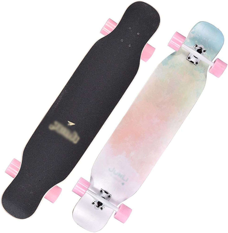 DUWEN Roller Erwachsene Mädchen mit Vier Rädern Skateboard Straße Professionelle Pinsel Straße Doppel-oberen Jungen Dance Board Lange Board Anfänger Roller (Farbe   C) B07NQ6CYTG  Saisonale Förderung