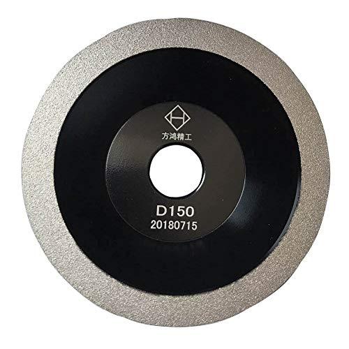 Brazed Diamond Grinding Wheel Cutter Grinder Tool Diamond Coated Flat Wheel Grit 200 (Black, 6 inch (150mm))
