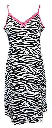 Wild & Gorgeous algodón diseño de cebra para mujer playa vestido de noche nos 8