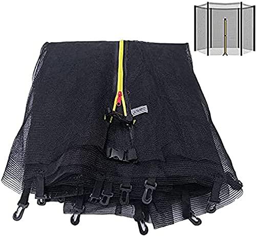 VULLDWS Trampoline Safety Net Trampoline Net 305 366 396 427 430 cm 6 8 Poles, Piezas de Repuesto de trampolín, Piezas de Repuesto de trampolín de Red Redonda, Altura de Red 163/180 cm