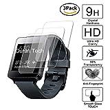 guran [3 pezzi] pellicola protettiva ultra resistente in vetro temperato per lg g watch w100 smartwatch ultra sottile screen protector film
