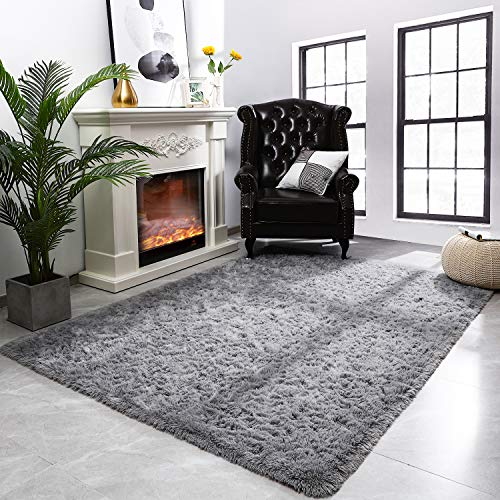 Modern Fluffy Large Area Rugs for Living Room Bedroom, 5x8 Feet, Soft...