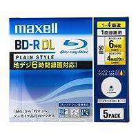 maxell 録画用 BD-R DL(片面2層) 50GB 4倍速対応 インクジェットプリンタ対応ホワイト(ワイド印刷) 5枚 5mmケース入 BR50VPLWPB.5S