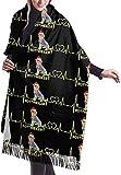Tengyuntong Bufanda de mantón Mujer Chales para, Rottweiler Rottie Lovers - Bufanda navideña para mujer, grande, suave, sedoso, de cachemira, chal, abrigo