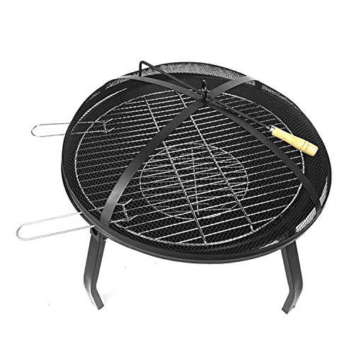 ZWNLL Brasero al aire libre calentador redondo portátil plegable hoguera accesorios para barbacoa, calefacción y jardín