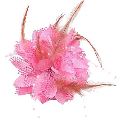 Cheerlife Elegante Damen Accessoires Haarblumen Haarblüte Haarspange Haarschmuck Broschen Ansteckblume viele Farben Pink