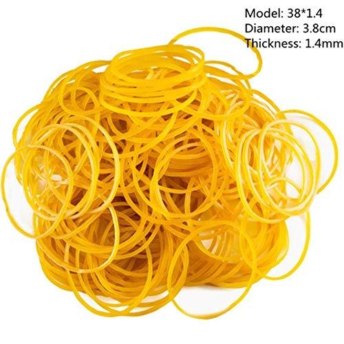 38mm Multi kleuren Hoge Kwaliteit Stationery Houder Thermostaatbaarheid Rubber Bands Sterke Elastische Haar Band Loop Kantoorbenodigdheden 100pcs Geel
