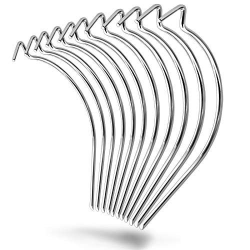 50 Pieces Stainless Steel Picture Hanging Hooks Heavy Duty Drywall Wire Hooks Hanger No Nails Need Holds Up to 100lbs for Hanging Pictures,Photo,Mirrors,Frames,Clock,Shelves,or Planters