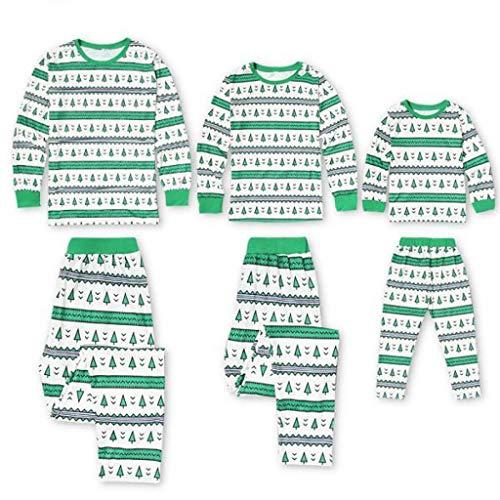 Snakell Weihnachten Schlafanzug Familie Pyjama Set, Winter Schlafanzug Familie Pyjamas Weihnachtsbaum Mama&Vater Kinder Junge Mädchen Sleepwear Outfits,WeihnachtsKostüme Nikolaus Nachtwäsche Homewear