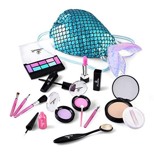 BeebeeRun Kinder Makeup Spielzeug Set, Mädchen Kosmetik Spielzeug, Simulation Schminke Spielzeug...