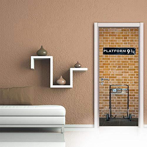 Sticker Decal 3D Creative Platform Decal Deur Sticker DIY Mural zelfklevend Wallpaper verwijderbaar Waterproof Poster Sticker Home Decals