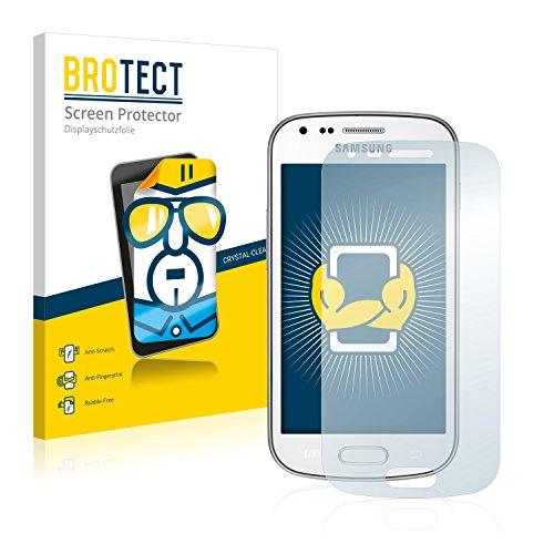 BROTECT Protector Pantalla Compatible con Samsung Galaxy Trend Plus S7580 Protector Transparente (2 Unidades) Anti-Huellas