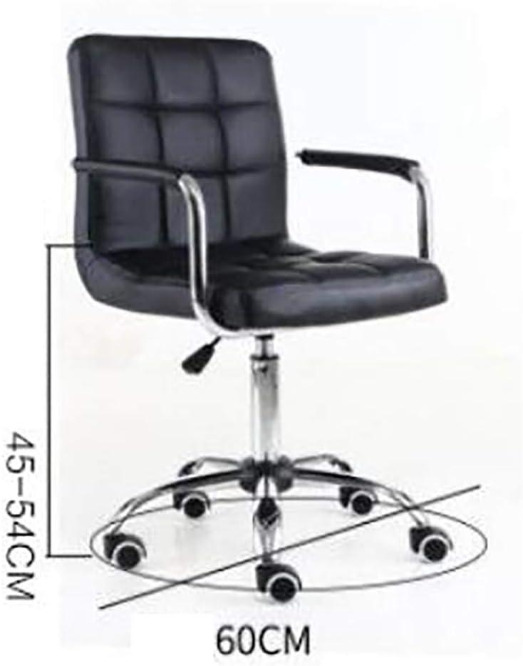 Char, Chaise d'ordinateur Bureau réunion Grand Patron Bar Chaise de Bureau Bar télésiège Noir Rose siège Mobile en Rotation Pink