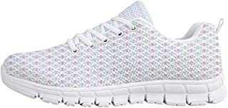 Fleur De Lis Comfortable Sports Shoes,Abstract Dotted Rectangles with Floral Pattern Polka Dots with Vintage Motifs Decorative for Men & Boys,US Size 6.5